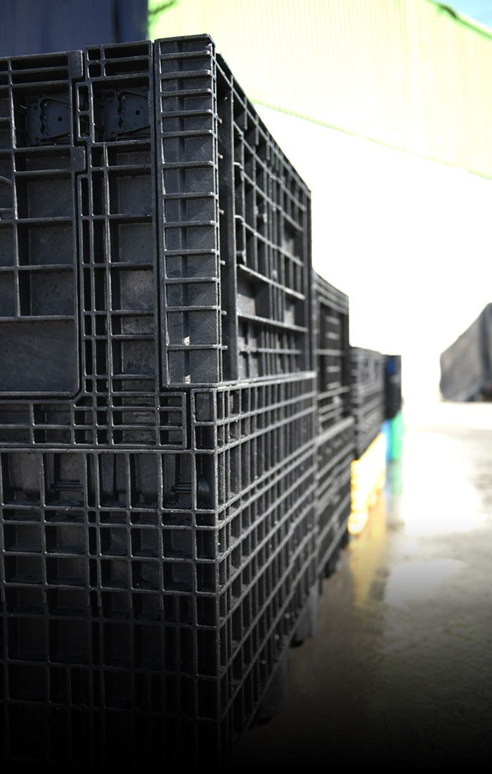 Productos contenedores de plastico colpasables Op